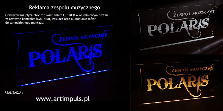 Bardzo dobryFantastyczny Podświetlana tablica reklamowa LED 100x50cm - Art Impuls - wyroby OM97